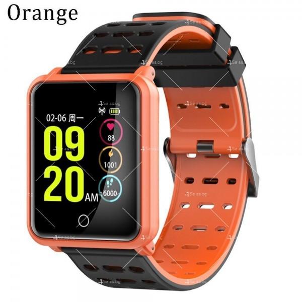 модерен и елегантен водоустойчив смарт часовник с цветен екран и Bluetooth SMW38 30