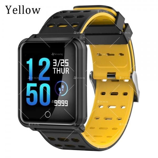 модерен и елегантен водоустойчив смарт часовник с цветен екран и Bluetooth SMW38