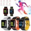 модерен и елегантен водоустойчив смарт часовник с цветен екран и Bluetooth SMW38 19