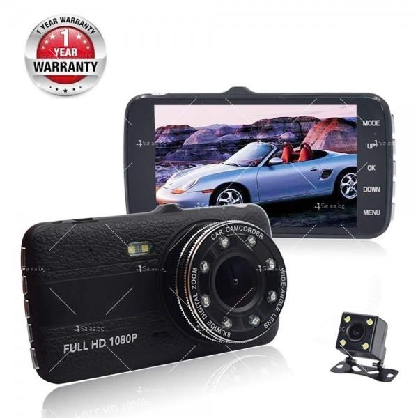 FULL HD Видеорегистратор за автомобил с подобрено нощно заснемане и 2 лещи AC73 3