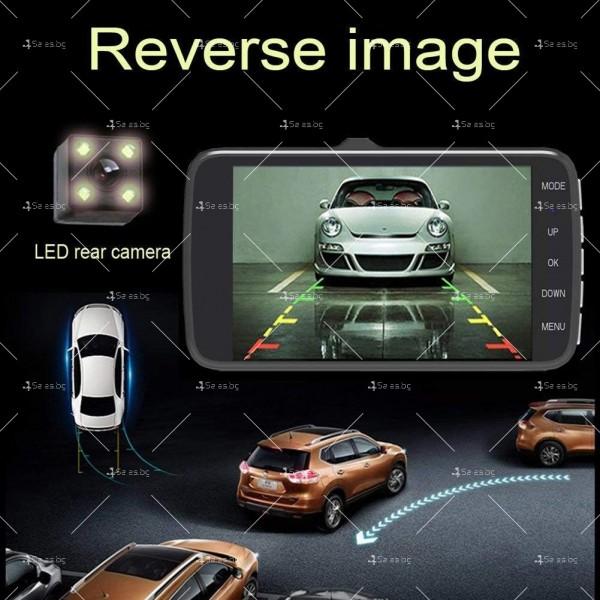 FULL HD Видеорегистратор за автомобил с подобрено нощно заснемане и 2 лещи AC73 4