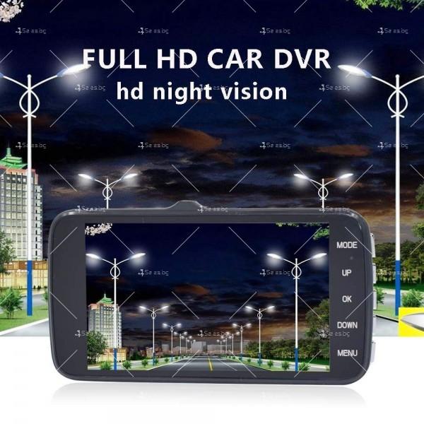 FULL HD Видеорегистратор за автомобил с подобрено нощно заснемане и 2 лещи AC73 5