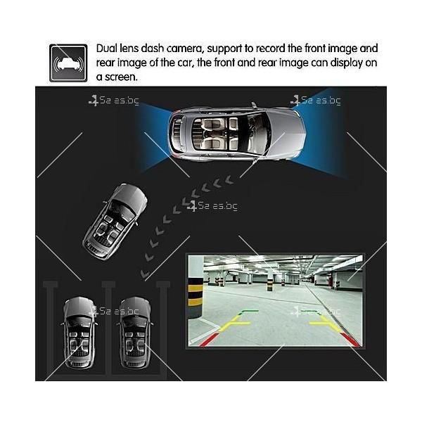 FULL HD Видеорегистратор за автомобил с подобрено нощно заснемане и 2 лещи AC73 9