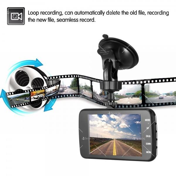 FULL HD Видеорегистратор за автомобил с подобрено нощно заснемане и 2 лещи AC73 10