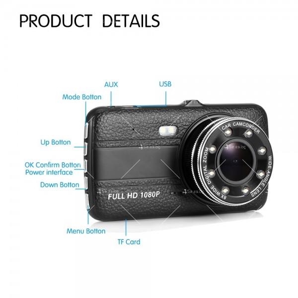 FULL HD Видеорегистратор за автомобил с подобрено нощно заснемане и 2 лещи AC73 11