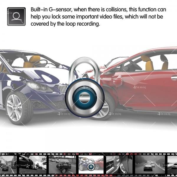 FULL HD Видеорегистратор за автомобил с подобрено нощно заснемане и 2 лещи AC73 13