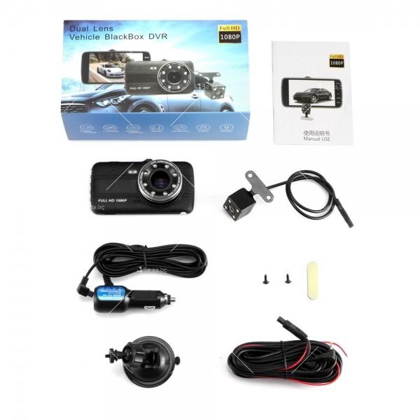 FULL HD Видеорегистратор за автомобил с подобрено нощно заснемане и 2 лещи AC73 14