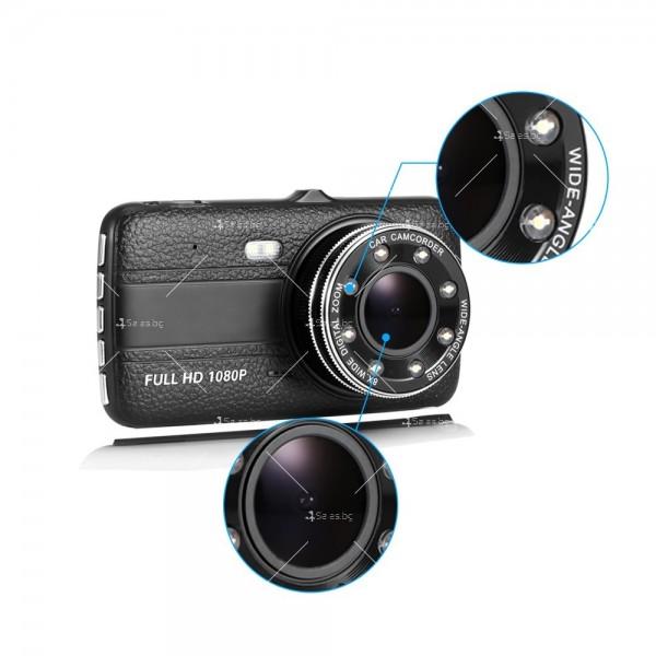 FULL HD Видеорегистратор за автомобил с подобрено нощно заснемане и 2 лещи AC73 16