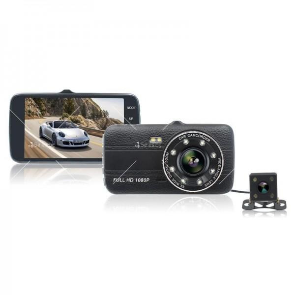 FULL HD Видеорегистратор за автомобил с подобрено нощно заснемане и 2 лещи AC73 21