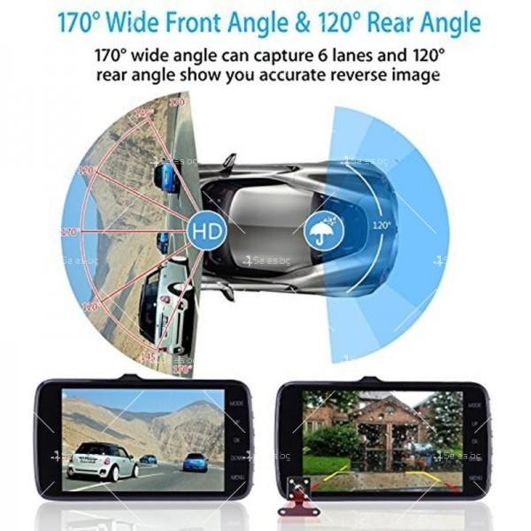 FULL HD Видеорегистратор за автомобил с подобрено нощно заснемане и 2 лещи AC73 24