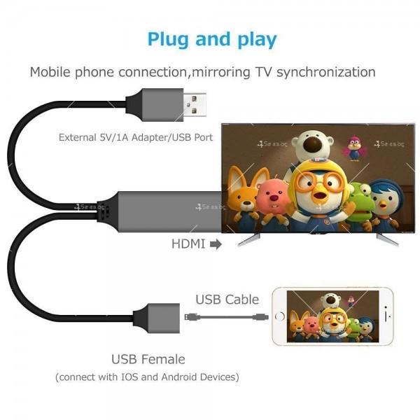 Преходник тип-С за Android и iPhone към HDMI CA111 7
