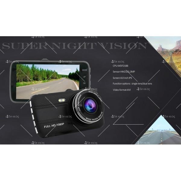 Скрита видео камера за кола с подобрен нощен запис AC74 16