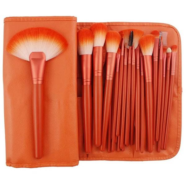 Комплект от 24 четки за грим в разгъваща се чантичка в красиви цветове HZS72 7