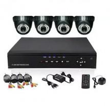 Домашна система за видеонаблюдение с четири камери
