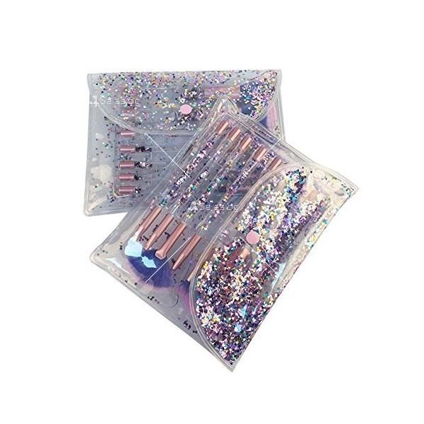 Четки за грим с кристални дръжки - 7 броя HZS86 6