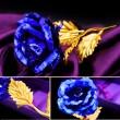 Изкуствена роза с 24-каратово златно покритие и стойка Сърце 15