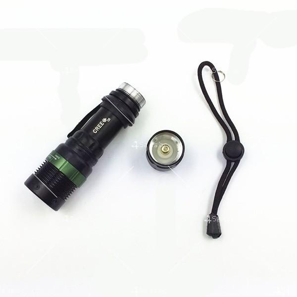 Професионален фенер с въртене и увеличение осветяване с тактова светкавица FL1 6