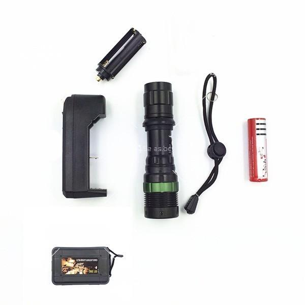 Професионален фенер с въртене и увеличение осветяване с тактова светкавица FL1 7