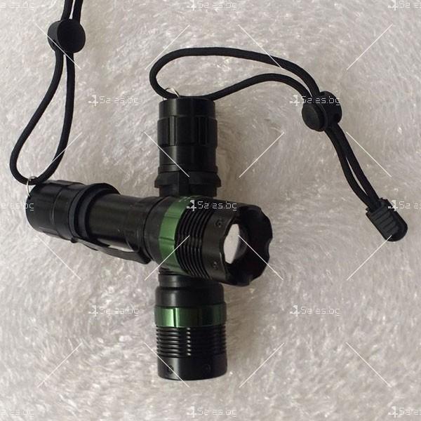 Професионален фенер с въртене и увеличение осветяване с тактова светкавица FL1 8