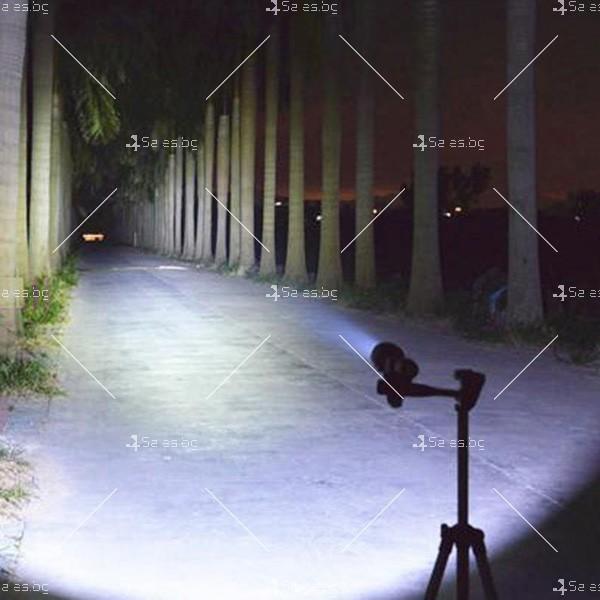 Професионален фенер с въртене и увеличение осветяване с тактова светкавица FL1 10