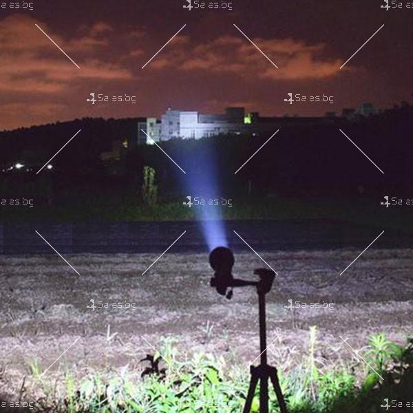 Професионален фенер с въртене и увеличение осветяване с тактова светкавица FL1 11