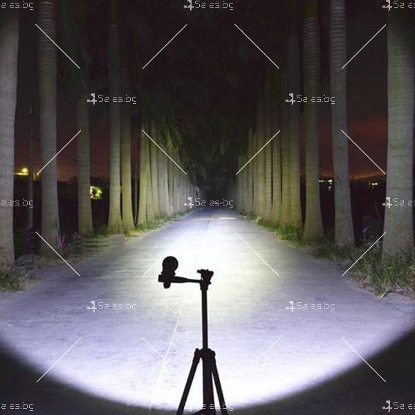 Професионален фенер с въртене и увеличение осветяване с тактова светкавица FL1 12