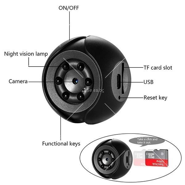 SQ6 мини камера с Full HD запис SC12 5