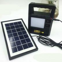 Слънчева система за осветление 30W с малък генератор с изходи USB и 3 по 6 V
