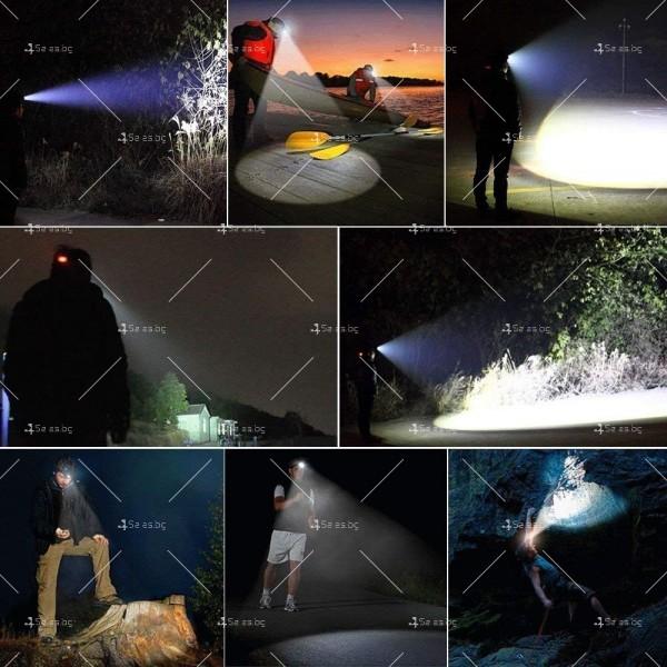 Водоустойчив фенер за глава с въртящ се фокус и мащабиране FL24 5