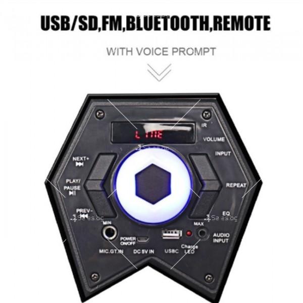 Караоке тонколона с Bluetooth връзка и USB вход 11
