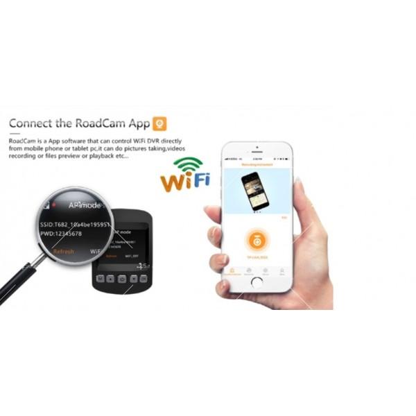 Камера за кола с 2 инчов дисплей и 4K HD, WiFi функция AC76 6