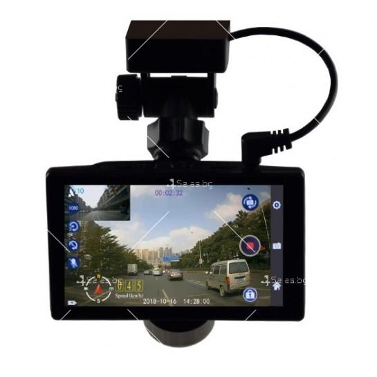 Видеорегистратор с 4 инчов дисплей свързан със сензори и камера, HD, GPS, AC77