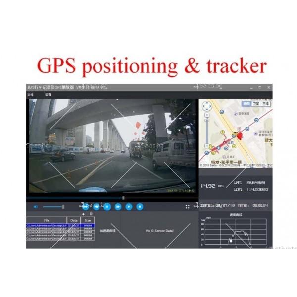 Видеорегистратор с 4 инчов дисплей свързан със сензори и камера, HD, GPS, AC77 8