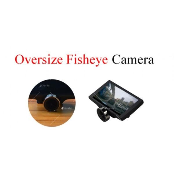 Видеорегистратор с 4 инчов дисплей свързан със сензори и камера, HD, GPS, AC77 9