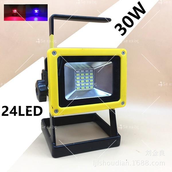 Мобилна лампа GDPLUS - прожектор с 24 LED осветителни тела 30 W GDL3