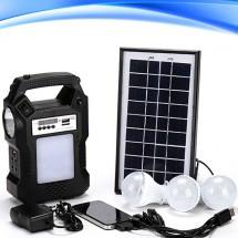 Прожектор GDPLUS със соларен панел за градината с USB и Bluetooth SOLAR8060