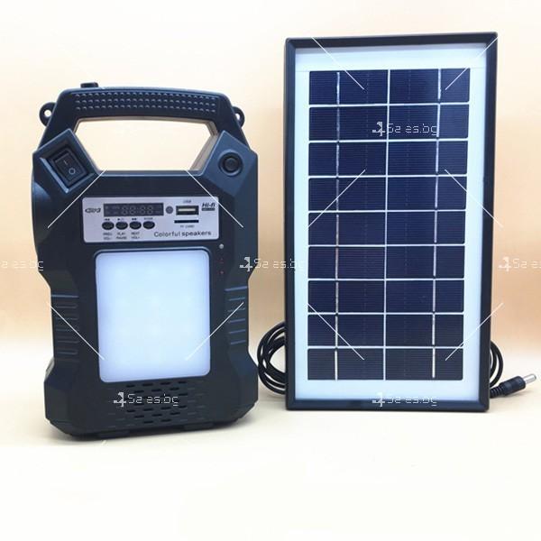 Прожектор GDPLUS със соларен панел за градината с USB и Bluetooth SOLAR8060 2