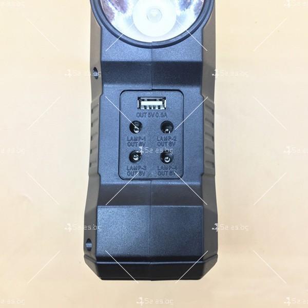Прожектор GDPLUS със соларен панел за градината с USB и Bluetooth SOLAR8060 4