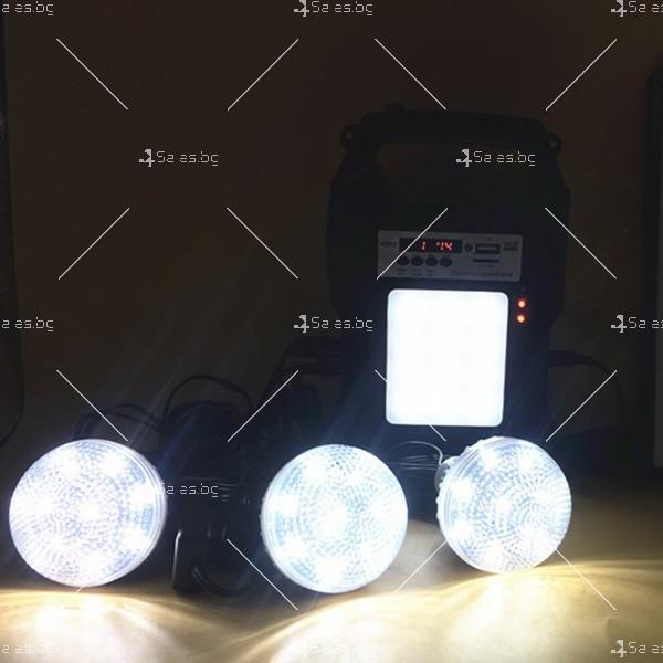 Прожектор GDPLUS със соларен панел за градината с USB и Bluetooth SOLAR8060 7
