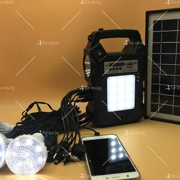Прожектор GDPLUS със соларен панел за градината с USB и Bluetooth SOLAR8060 8