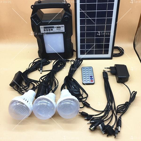Прожектор GDPLUS със соларен панел за градината с USB и Bluetooth SOLAR8060 9