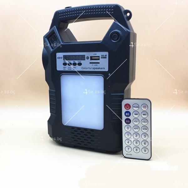 Прожектор GDPLUS със соларен панел за градината с USB и Bluetooth SOLAR8060 10