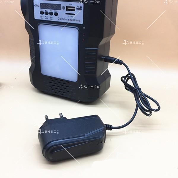 Прожектор GDPLUS със соларен панел за градината с USB и Bluetooth SOLAR8060 12