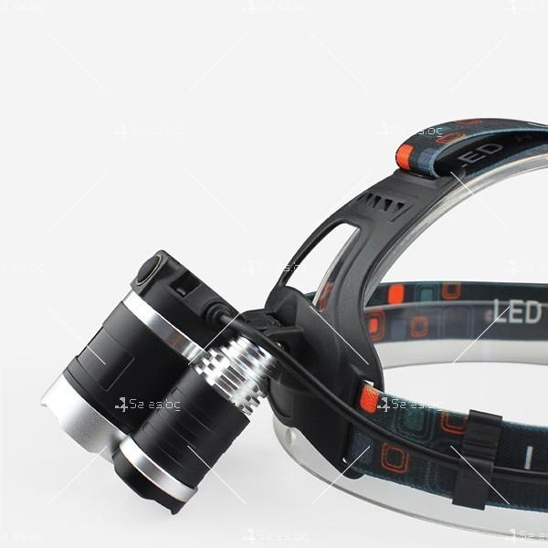 Фенер за глава T6 Tianyan RJ-3000 с 3 LED фара с акумулаторни батерии FL20 5