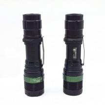 фенер CREE Q5 нагласяне с въртене и увеличение и тактова светкавица FL1
