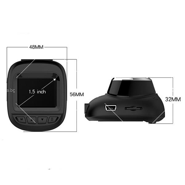 Камера за кола 1,5 инча със скрит рекордер, обратно виждане, HD запис и Wifi 4