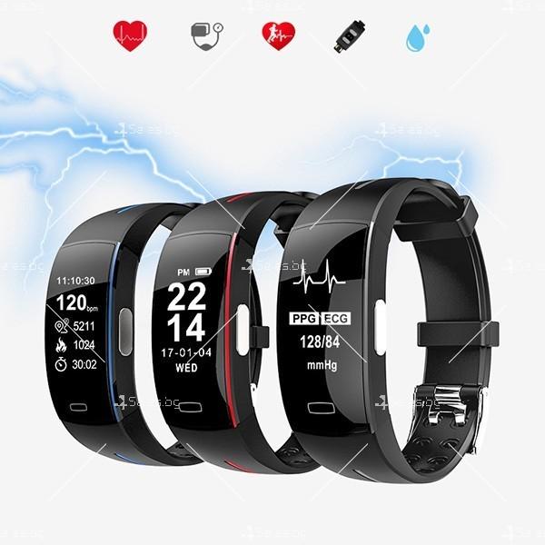 Интелигентна гривна-часовник с фотоелектричен електрод за кръвно налягане SMW37 7