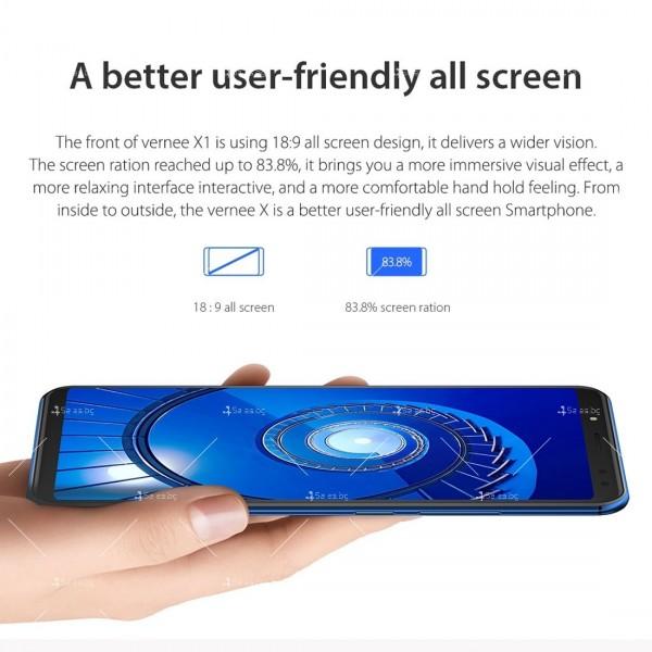 Смартфон с 6GB RAM и 64GB памет, 8 ядра , 6200 mAh батерия, Android 8,1 9