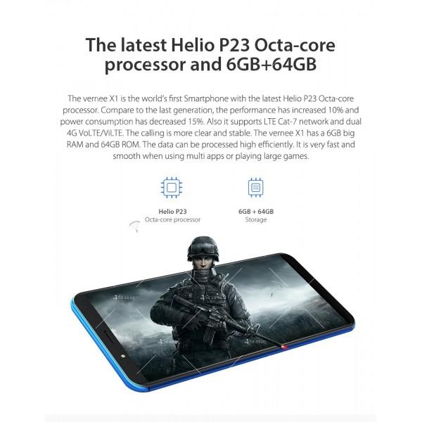 Смартфон с 6GB RAM и 64GB памет, 8 ядра , 6200 mAh батерия, Android 8,1 14