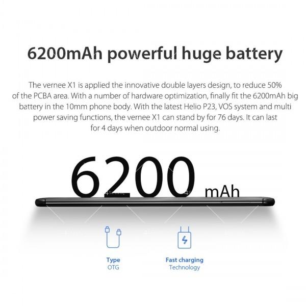 Смартфон с 6GB RAM и 64GB памет, 8 ядра , 6200 mAh батерия, Android 8,1 16